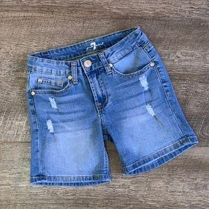 7 for all mankind Girls Denim Shorts Sz 10